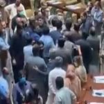 sindh assembly pti fighting